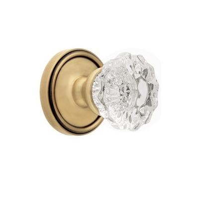 Grandeur Versailles Knob with Georgetown Rose Vintage Brass