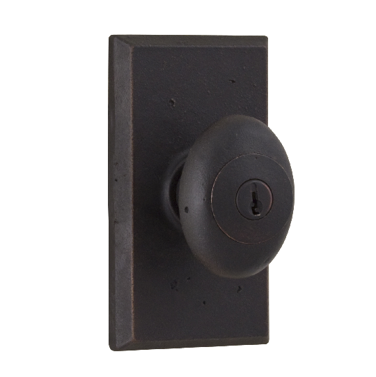 Weslock Durham 7340M Keyed Entry with Square Rose Black