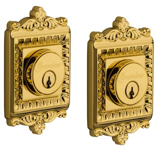 Grandeur Windsor Double Cylinder Deadbolt Lifetime Brass (LB)