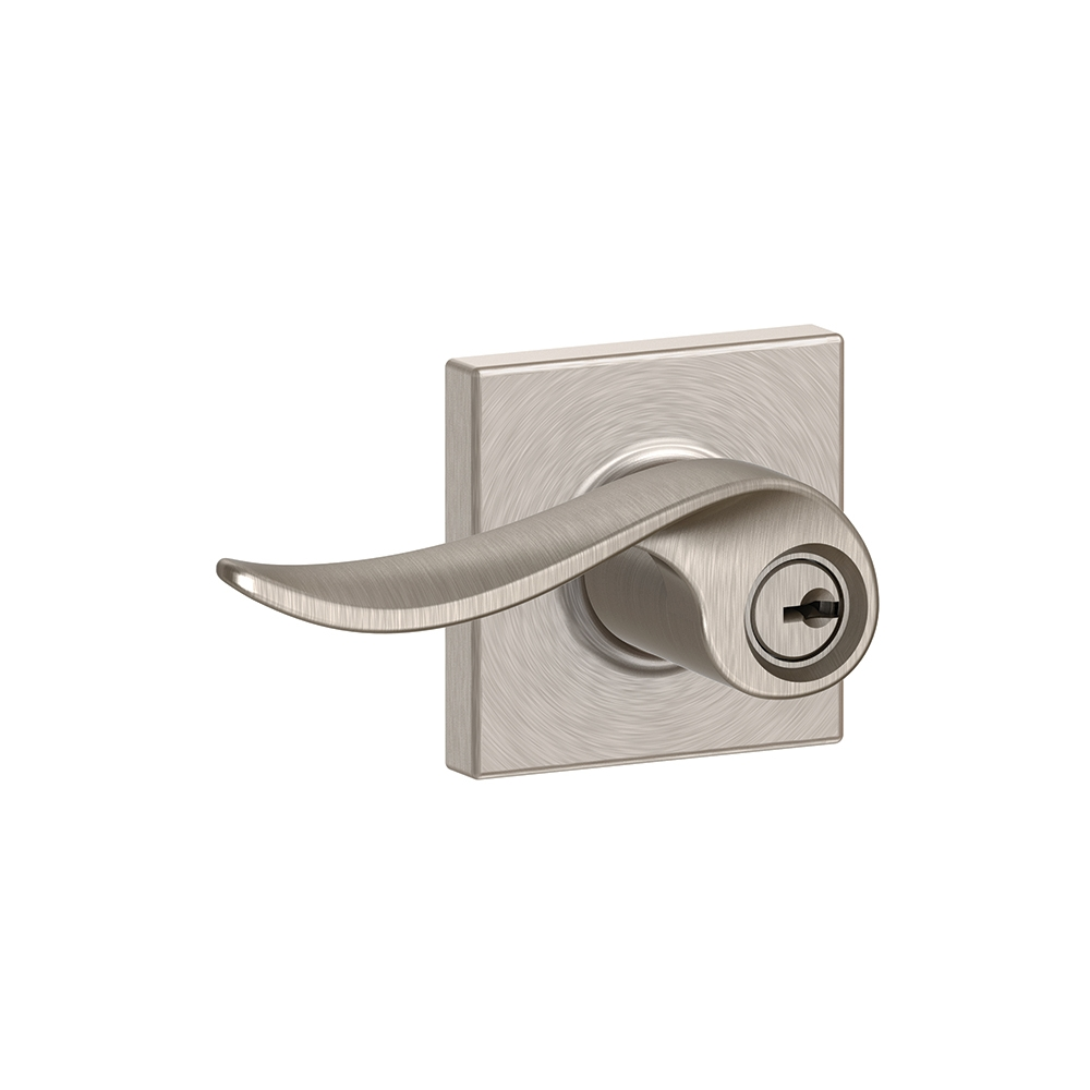 chlage F51A-SAC-COL Sacramento Keyed Entry Door Lever Set with Collins Rose