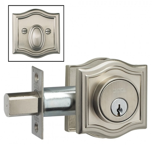 Omnia ARCHDB Arched Auxillary Deadbolt from the Prodigy Collection