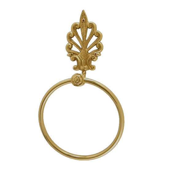 Brass Accents European Towel Ring