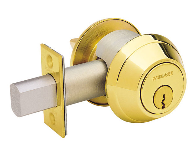 Schlage B660P Grade 1 Deadbolt in Polished Brass (605)