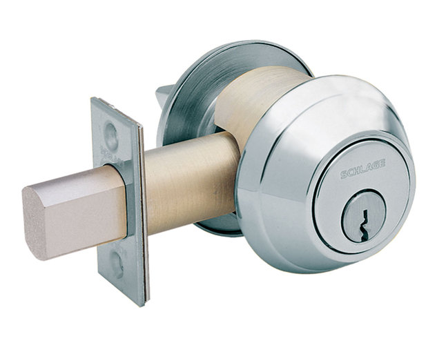 Schlage B660P Grade 1 Deadbolt in Satin Chrome (626)