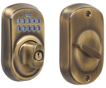 Schlage BE365-PLY Electronic Keypad 609 Antique Brass