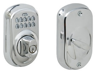 Schlage BE365-PLY Electronic Keypad 625 Bright Chrome