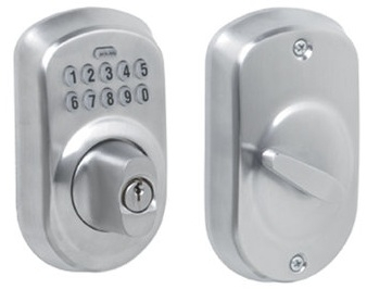 Schlage BE365-PLY Electronic Keypad 625 Satin Chrome