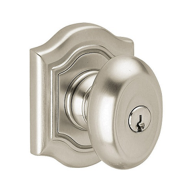 Baldwin 5237.ENTR Bethpage Keyed Entry 150 Satin Nickel
