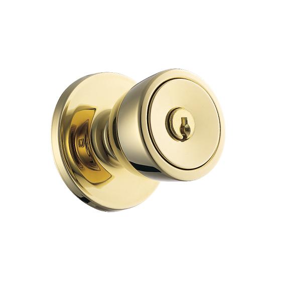 Exceptionnel Weiser GAC531B Keyed Entry 3 Polished Brass