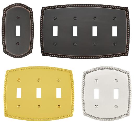 Emtek 29211, 29212, 29213, 29214 Rope Toggle Switchplate