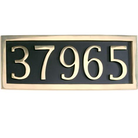 Brass Accents Address Marker Plaque