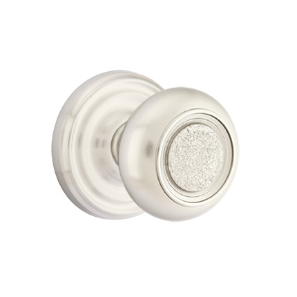 Emtek Belmont Door knob with Regular Rose Satin Nickel (US15)