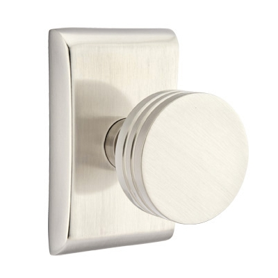 Emtek Bern Door Knob Set with Neos Rose Satin Nickel (US15)