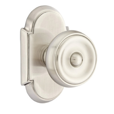 Emtek Waverly Door Knob with #8 Rose Satin Nickel (US15)