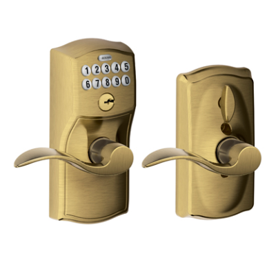 Schlage Fe595 Camelot Keypad Lock With Accent Lever Low
