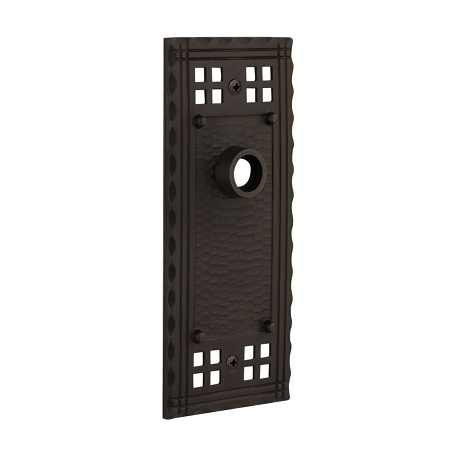 Nostalgic Warehouse Craftsman Plate Without Keyhole Privacy Oil Rubbed Bronze