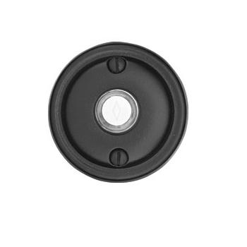 Emtek 2412 Door Bell Button w/#12 Flat Black Patina (FB)