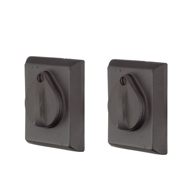 Emtek 8365 #3 Style Double Cylinder Deadbolt Flat Black Patina (FB)