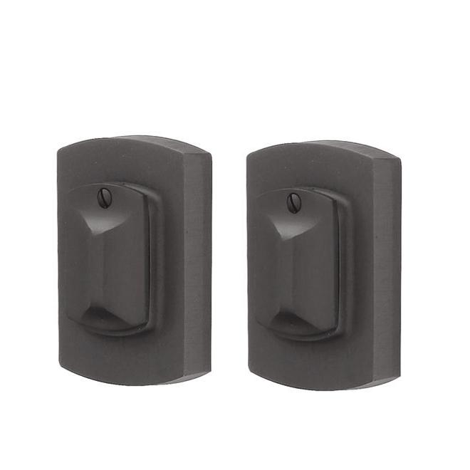 Emtek 8374 #4 Style Double Cylinder Deadbolt Flat Black Patina (FB)