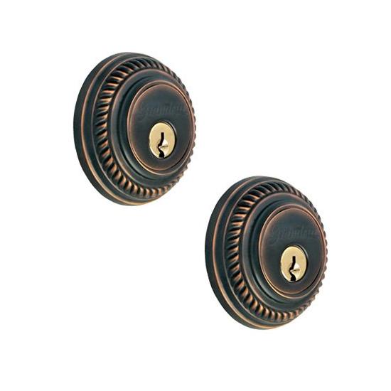 Grandeur Newport Double Cylinder Deadbolt Timeless Bronze (TB)