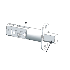 Grandeur Deadbolt Latch With 2 3/4 inch backset