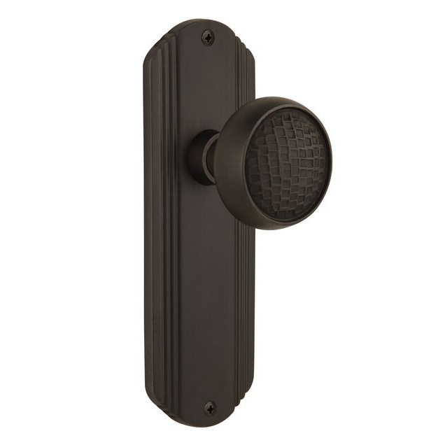 Nostalgic Warehouse Deco Backplate with Craftsman Knob Oil Rubbed Bronze
