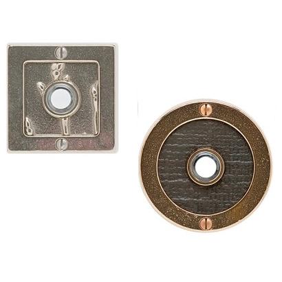 Rocky Mountain Round Designer Texture Door Bell Button