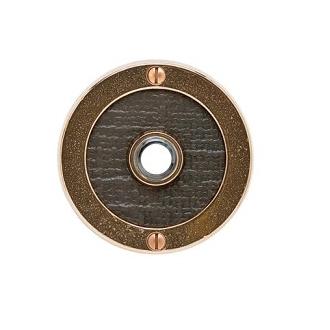 Rocky Mountain Round Designer Texture Door Bell Silicone Bronze Dark with Weave