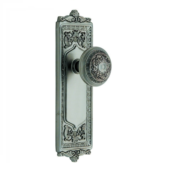 Nostalgic warehouse Egg and Dart Backplate with Egg and Dart KnobSatin Nickel