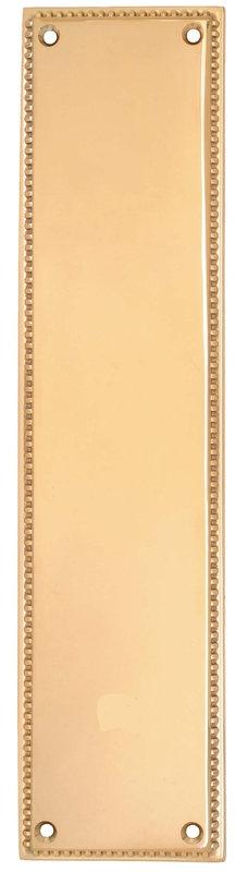 Emtek Brass Knoxville Push Plate Lifetime polished Brass 86081