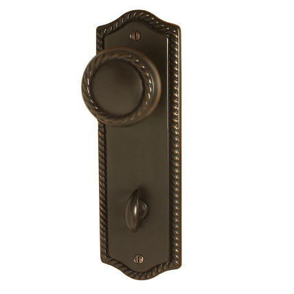 Emtek 8223 Rope Thumbturn Privacy Sideplate Oil Rubbed Bronze (US10B)