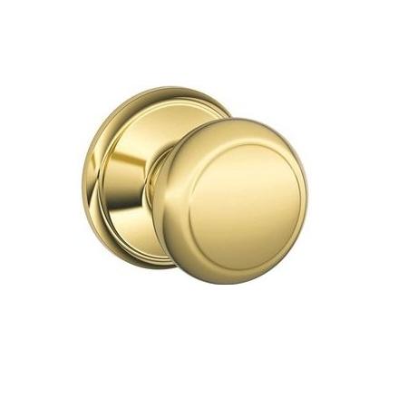 Schlage F10 Andover 605 Bright Brass