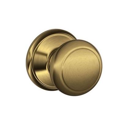 Schlage F10 Andover 609 Antique Brass
