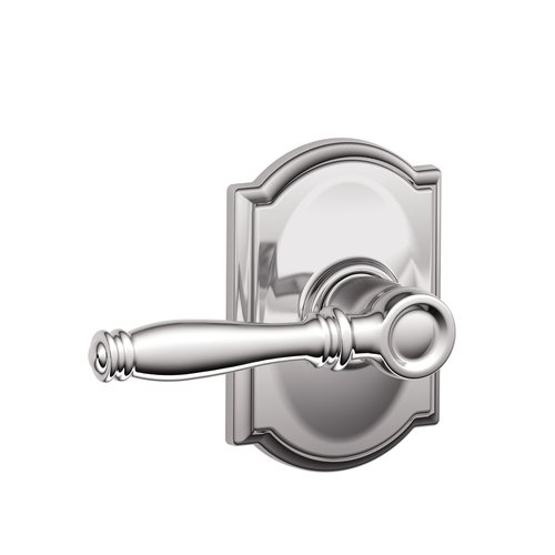 Schlage Birmingham Lever with Camelot Decorative Rose in Bright Chrome (625)