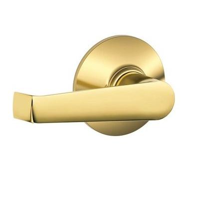 Schlage Elan F10 Ela Passage 605 Polished Brass