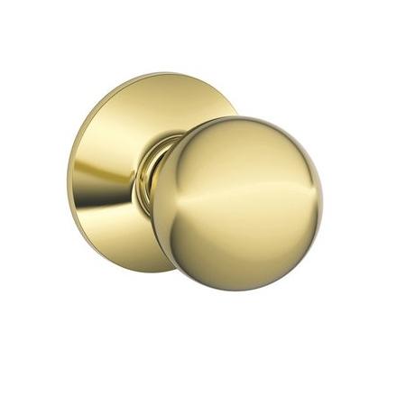 Schlage F10 Orb Passage Lifetime Bright Brass 505
