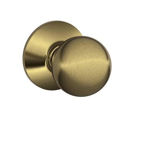 Schlage F10 Orb Passage Antique Brass 609