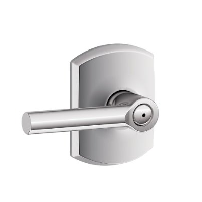Schlage F40-BRW Broadway Lever with Greenwich Decorative Rose