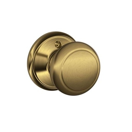 Schlage F170 And Dummy Knob 609 Antique Brass