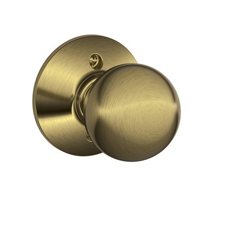Schlage F170 Orb Dummy Antique Brass 609