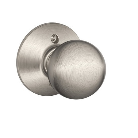 Schlage F170 Orb Dummy Satin Nickel 619