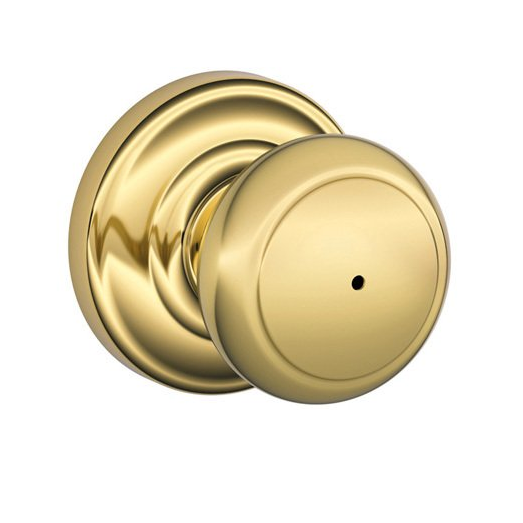 Schlage F40-AND-AND Andover Privacy Door Knob Set with Andover Rose