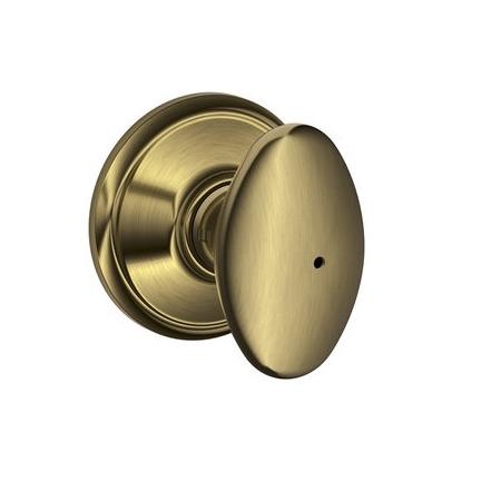Schlage F40 Sie Privacy Antique Brass 609
