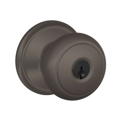 Schlage F80-AND-613 Storeroom Knob 613 Oil Rubbed Bronze
