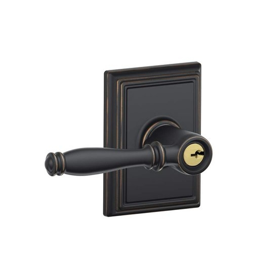 schlage birmingham lever with addison decorative rose