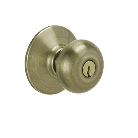 Schlage F51 Ply Keyed Entry Antique Brass 609