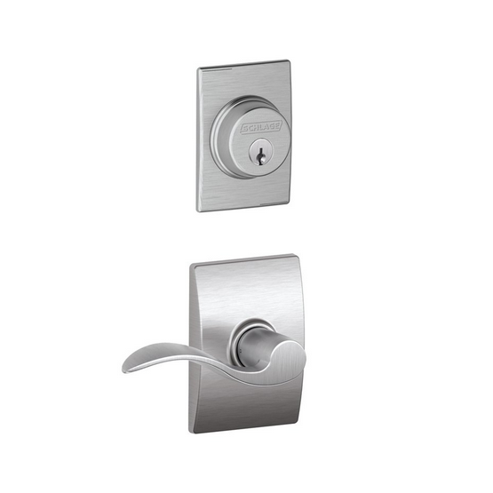 Schlage F57 F59 ACC/CEN Century Single Cylinder Deadbolt with Accent Lever