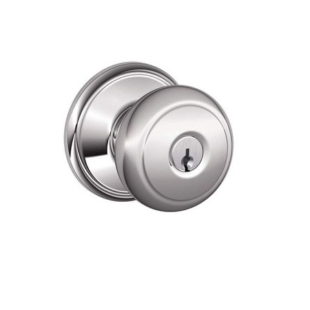 Schlage F80-AND-625 Storeroom Knob 625 Bright Chrome