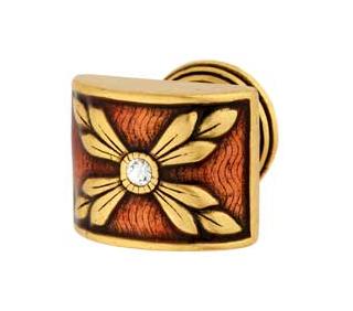 Emenee FAB1002-RG Faberge Parasol Cabinet Knob in Russian Gold (RG)