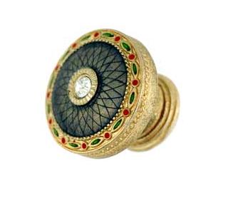 Emenee FAB1005-RG Faberge Round Parasol Cabinet Knob in Russian Gold (RG)